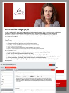 View and editing of job advertisement