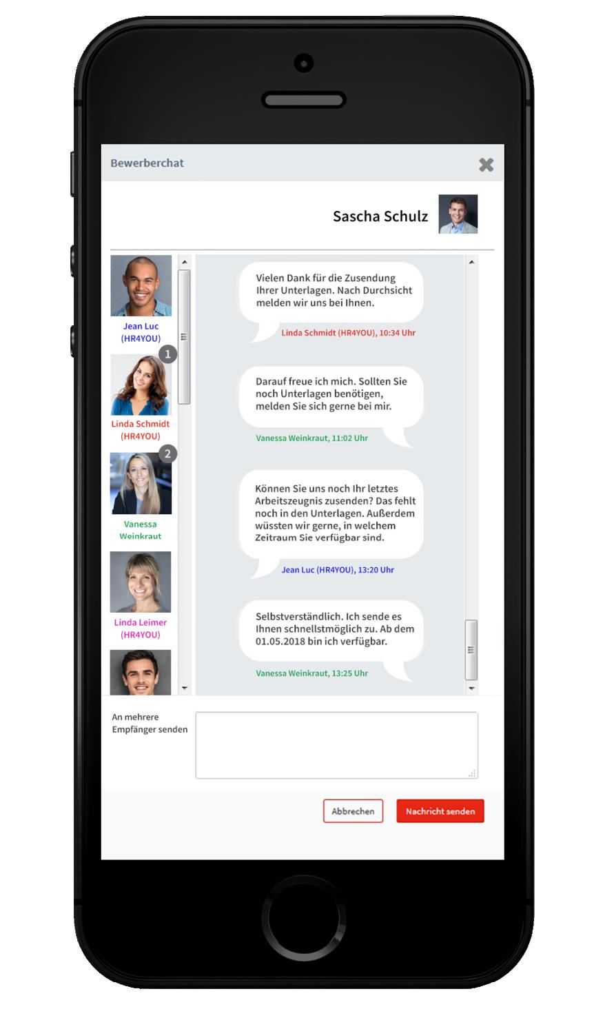 Chat für Bewerber