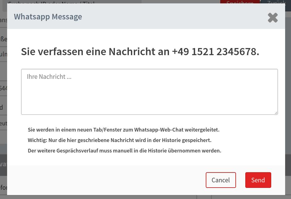 Direktnachricht per Whatsapp
