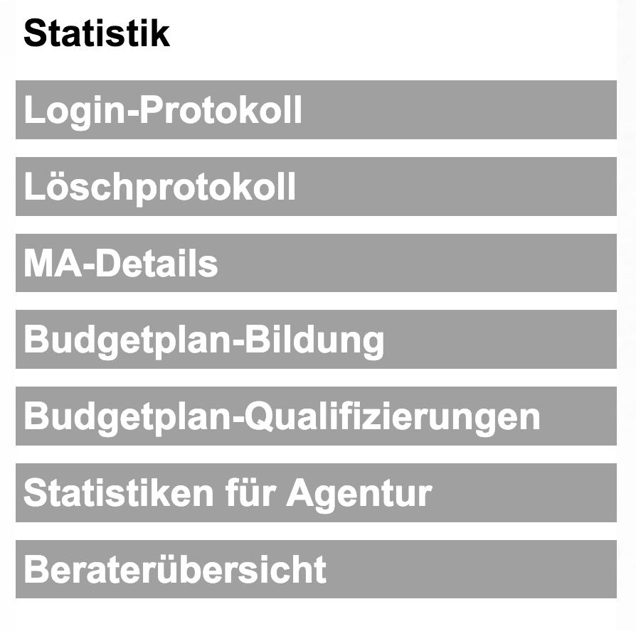 Menü Statistik