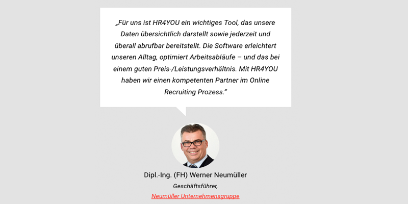 hr4you - Kundenstimme Neumüller Gruppe