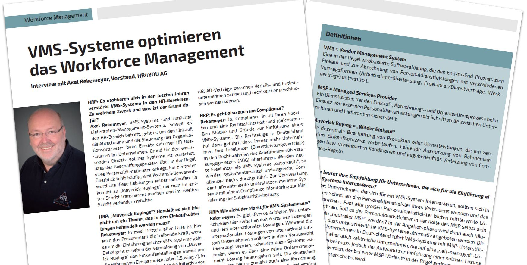 VMS Systeme optimieren Workforce Management