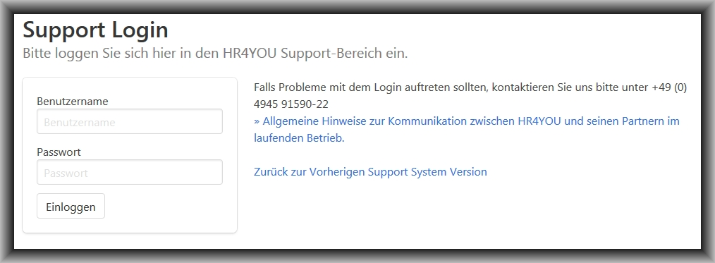 Support-Login